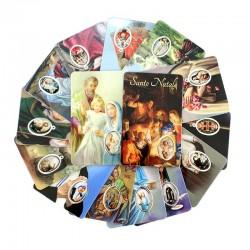Card plastificate soggetti assortiti con preghiera 5,5x8,5 cm pezzi 25