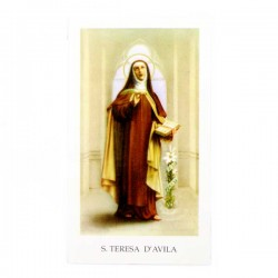 Immagine Santa Teresa d'Avila con preghiera 6x11 cm pz 100