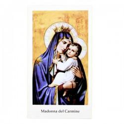 Immagine Madonna del Carmine con preghiera 6x11 cm pz 100
