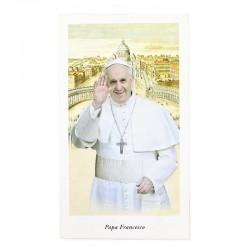 Immagine Papa Francesco con preghiera 6x11 cm pz 100