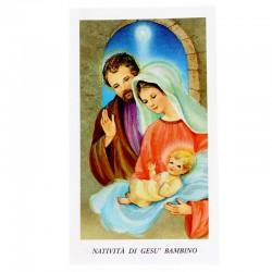 Immagine Natività di Gesù Bambino con preghiera 6x11 cm pz 100