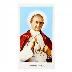 Immagine Beato Papa Paolo VI con preghiera 6x11 cm pz 100