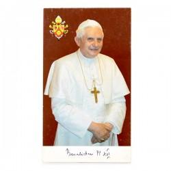 Immagine Papa Benedetto XVI con preghiera 6x11 cm pz 100