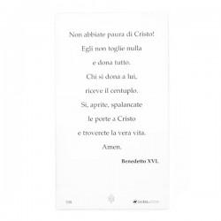 Image Pope Benedict XVI with Prayer 100 pieces 11x6 cm