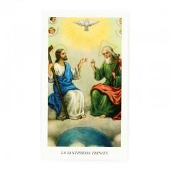 Immagine Santissima Trinità con preghiera 6x11 cm 100 pz