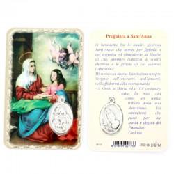 Card Sant'Anna con Medaglia 5,5x8,5 cm