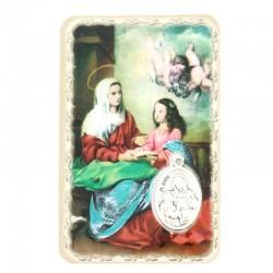 Card Saint Anne with Medal 5,5x8,5 cm