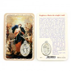 Card Madonna dei Nodi con Medaglia 5,5x8,5 cm