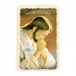 Card Praying Jesus with Medal 5,5x8,5 cm