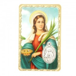 Card Saint Lucy with Medal 5,5x8,5 cm