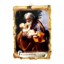 St. Joseph parchment with Indulgence in pvc 14x20 cm