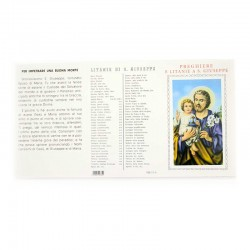 Card with prayers and litanies to St. Joseph 100 units