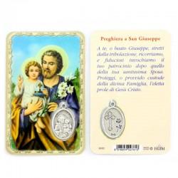 Card San Giuseppe con Medaglia 5,5x8,5 cm
