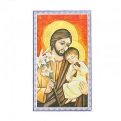 Image icon St. Joseph blue frame 7x12 cm 100 units