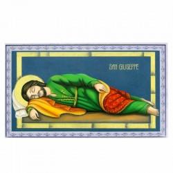 Image of Saint Joseph sleeping blue frame 12x7 cm 100 units