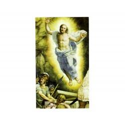 Immagine Resurrezione con Benedizione mensa 7x12 cm 100 pz