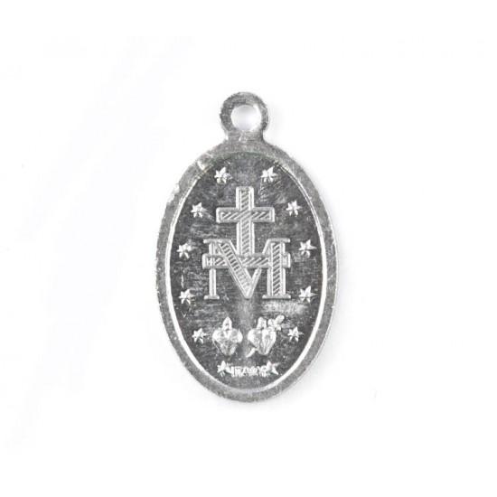 Silvery Aluminium Miraculos Medallion 1.8x1.2 cm