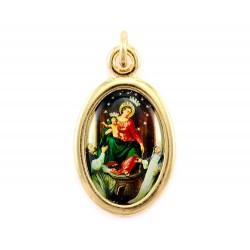 Medaglia ovale Madonna di Pompei 1,5x2 cm