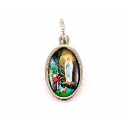 Medaglia Madonna di Lourdes ovale 1x1,5 cm