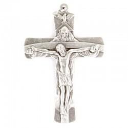 Crocifisso Trinità in metallo 6x9 cm