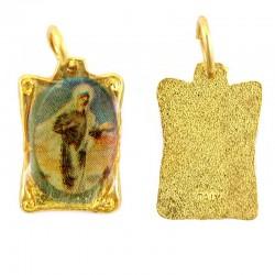 Medaglia pergamena Madonna di Medjugorje 1x1,5 cm