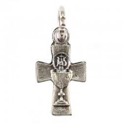 Croce piccola in metallo con Calice e Ostia 1x1,6 cm