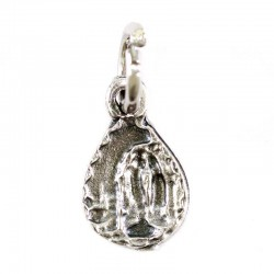 Medaglia goccia Madonna di Lourdes 0,7x1 cm