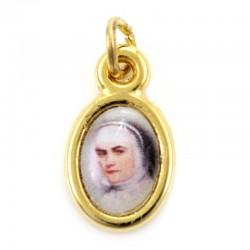 Medaglia Santa Giovanna Antida Thouret dorata 0,8x1 cm