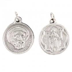 Medaglia San Ciro e  Sant'Anastasio metallo Diametro 2 cm