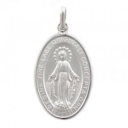 Medaglia Miracolosa argento rodiato 925°° 23x33 mm