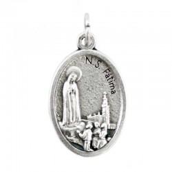 Medaglia Madonna di Fatima Ovunque Proteggimi 1,5x2,2 cm