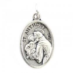 Medaglia Sant'Antonio Ovunque Proteggimi 1,5x2,2 cm