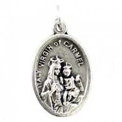 Medaglia Madonna del Carmine Ovunque Proteggimi 1,5x2,2 cm