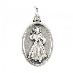 Medaglia Gesù Misericordioso Ovunque Proteggimi 1,5x2,2 cm