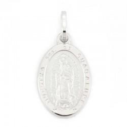 Medaglia Madonna di Guadalupe argento rodiato 11x16 mm