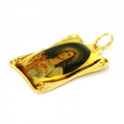 Sacred Heart of Jesus parchment medal 1,8 x 2,5 cm