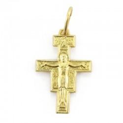 Silver Cross Pendant Saint Damien 925 1,2x1,7 cm