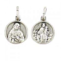 Silver scapular Sacred Heart medal 925 1 cm
