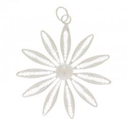 Silver filigree Daisy pendant 800 Diameter 3,7