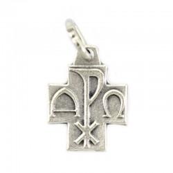 Alpha Omega cross in metal 1,2x1,2 cm
