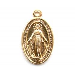 Golden Aluminium Miraculos Medallion 1.8x1.2 cm