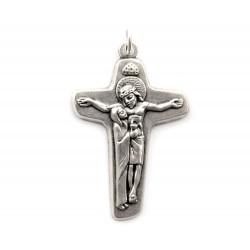 Crocifisso Maria Abbrccia Gesù in metallo 4x2,8 cm