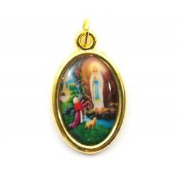 Medaglia Madonna di Lourdes ovale 2,2x1,5 cm