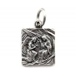 Medaglia Annunciazione in metallo 1,5x1,5 cm