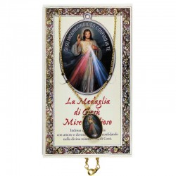 Pagellina con medaglia e catena Gesù Misericordioso