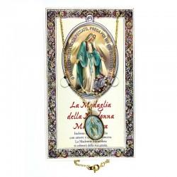 Pagellina con medaglia e catena Madonna Miracolosa