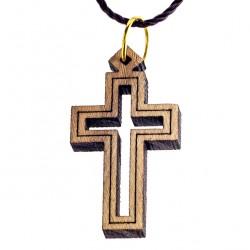 Olive Wood Holed Cross 2.5x1.5 cm
