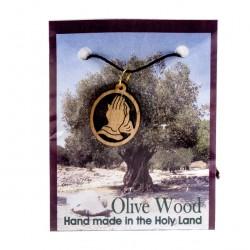 Wooden Pendant Praying Hands 2.5x2 cm