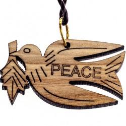 Wooden Pendant Dove 1.5x3 cm