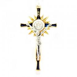 Croce Prima Comunione smaltata 9x5 cm